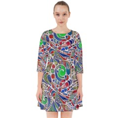 Pop Art - Spirals World 1 Smock Dress by EDDArt
