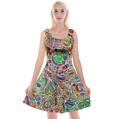 Pop Art - Spirals World 1 Reversible Velvet Sleeveless Dress by EDDArt
