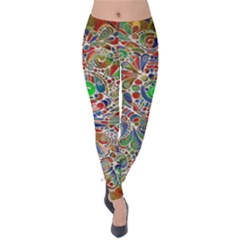 Pop Art - Spirals World 1 Velvet Leggings by EDDArt