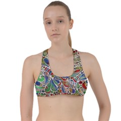 Pop Art - Spirals World 1 Criss Cross Racerback Sports Bra by EDDArt