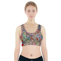 Pop Art - Spirals World 1 Sports Bra With Pocket by EDDArt
