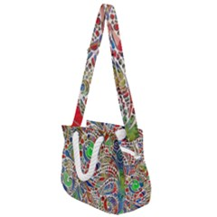 Pop Art - Spirals World 1 Rope Handles Shoulder Strap Bag by EDDArt
