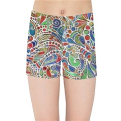 Pop Art - Spirals World 1 Kids  Sports Shorts by EDDArt