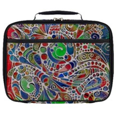 Pop Art - Spirals World 1 Full Print Lunch Bag by EDDArt