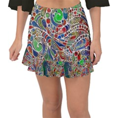 Pop Art - Spirals World 1 Fishtail Mini Chiffon Skirt by EDDArt