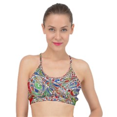 Pop Art - Spirals World 1 Basic Training Sports Bra by EDDArt