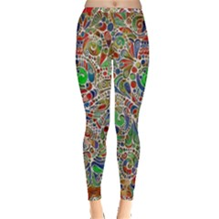 Pop Art - Spirals World 1 Inside Out Leggings by EDDArt