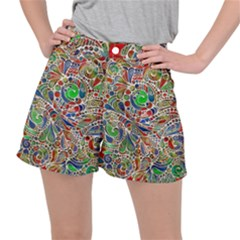 Pop Art - Spirals World 1 Ripstop Shorts by EDDArt