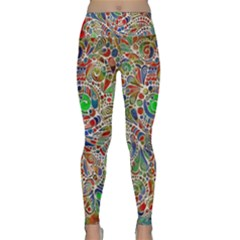 Pop Art - Spirals World 1 Lightweight Velour Classic Yoga Leggings by EDDArt