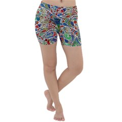 Pop Art - Spirals World 1 Lightweight Velour Yoga Shorts by EDDArt