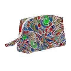 Pop Art - Spirals World 1 Wristlet Pouch Bag (medium) by EDDArt