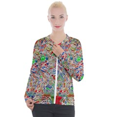 Pop Art - Spirals World 1 Casual Zip Up Jacket by EDDArt