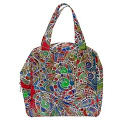 Pop Art - Spirals World 1 Boxy Hand Bag by EDDArt