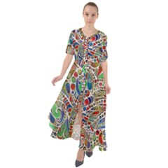 Pop Art - Spirals World 1 Waist Tie Boho Maxi Dress by EDDArt