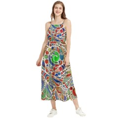 Pop Art - Spirals World 1 Boho Sleeveless Summer Dress by EDDArt