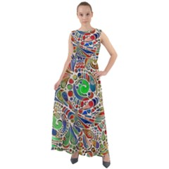 Pop Art - Spirals World 1 Chiffon Mesh Boho Maxi Dress
