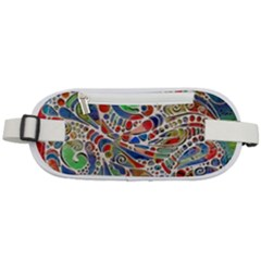 Pop Art - Spirals World 1 Rounded Waist Pouch by EDDArt