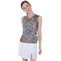 Pop Art - Spirals World 1 Women s Sleeveless Sports Top by EDDArt