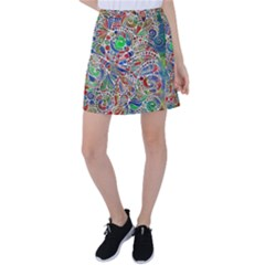 Pop Art - Spirals World 1 Tennis Skirt by EDDArt