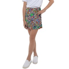 Pop Art - Spirals World 1 Kids  Tennis Skirt by EDDArt