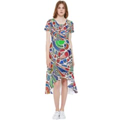 Pop Art - Spirals World 1 High Low Boho Dress by EDDArt