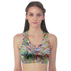 Pop Art - Spirals World 1 Sports Bra by EDDArt