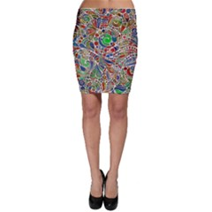 Pop Art - Spirals World 1 Bodycon Skirt by EDDArt