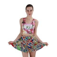 Pop Art - Spirals World 1 Mini Skirt by EDDArt