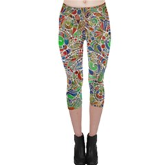 Pop Art - Spirals World 1 Capri Leggings  by EDDArt