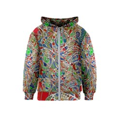 Pop Art - Spirals World 1 Kids  Zipper Hoodie