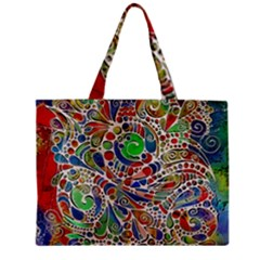 Pop Art - Spirals World 1 Zipper Mini Tote Bag