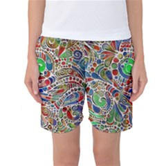 Pop Art - Spirals World 1 Women s Basketball Shorts by EDDArt