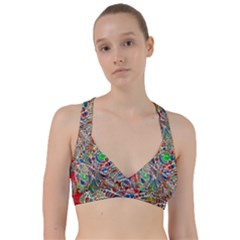Pop Art - Spirals World 1 Sweetheart Sports Bra by EDDArt