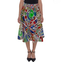 Pop Art - Spirals World 1 Perfect Length Midi Skirt by EDDArt