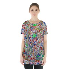 Pop Art - Spirals World 1 Skirt Hem Sports Top by EDDArt