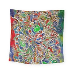 Pop Art - Spirals World 1 Square Tapestry (small) by EDDArt
