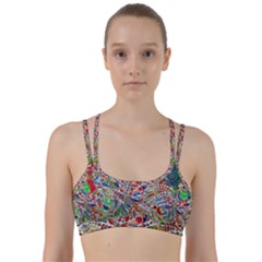 Pop Art - Spirals World 1 Line Them Up Sports Bra by EDDArt