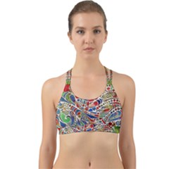Pop Art - Spirals World 1 Back Web Sports Bra by EDDArt