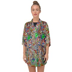 Pop Art - Spirals World 1 Half Sleeve Chiffon Kimono by EDDArt