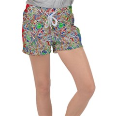 Pop Art - Spirals World 1 Velour Lounge Shorts by EDDArt