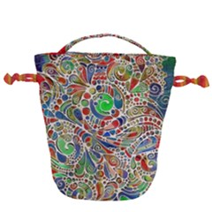 Pop Art - Spirals World 1 Drawstring Bucket Bag