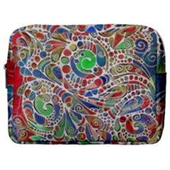Pop Art - Spirals World 1 Make Up Pouch (large) by EDDArt