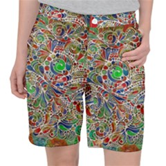 Pop Art - Spirals World 1 Pocket Shorts by EDDArt