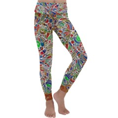 Pop Art - Spirals World 1 Kids  Lightweight Velour Classic Yoga Leggings by EDDArt