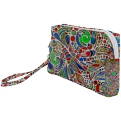 Pop Art - Spirals World 1 Wristlet Pouch Bag (small) by EDDArt
