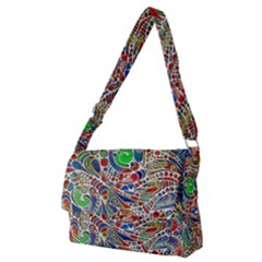 Pop Art - Spirals World 1 Full Print Messenger Bag (m)