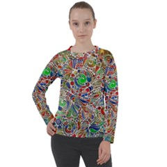 Pop Art - Spirals World 1 Women s Long Sleeve Raglan Tee