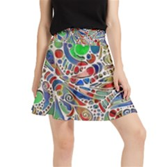 Pop Art - Spirals World 1 Waistband Skirt by EDDArt