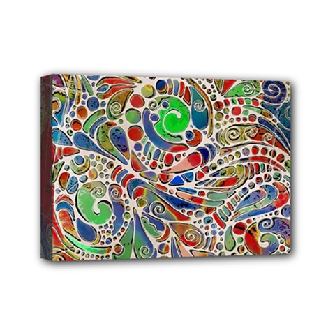 Pop Art - Spirals World 1 Mini Canvas 7  X 5  (stretched)