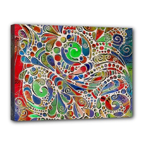 Pop Art - Spirals World 1 Canvas 16  X 12  (stretched)